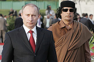 Putin talks of Libya and dislikes use of force by the West…