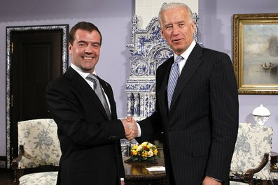 Medvedev Meets with Joseph Biden…