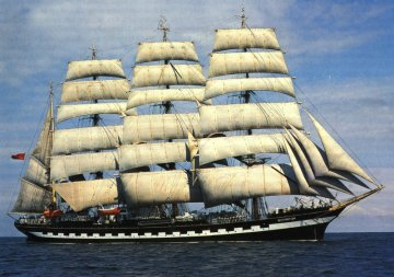 The Russian Tall Ship Kruzenshtern at the Spanish Port – Vigo…
