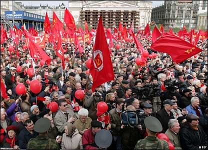 In Russia the Communist Party Seems to be Growing Again…