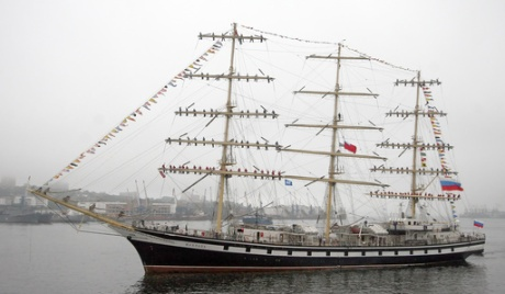 Pallada Russian tall ship on the move…