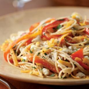 Russian Recipe: Pasta with bell peppers