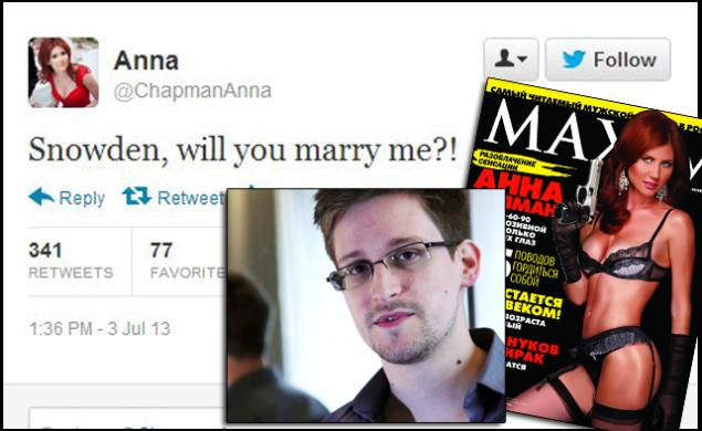 Chapman Wants to Marry Snowden: Spy to Spy…