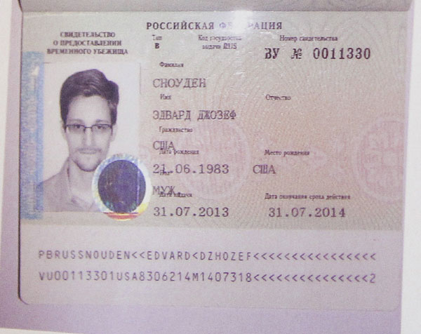 Snowden offered job at Russian parliament?