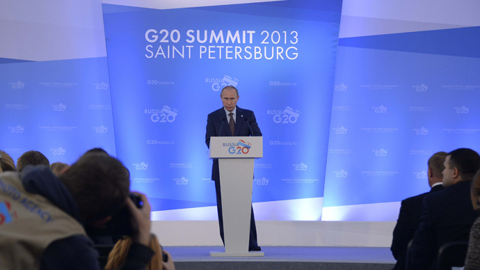 "G20 – Russia ""will help Syria"" in the event of a military strike"