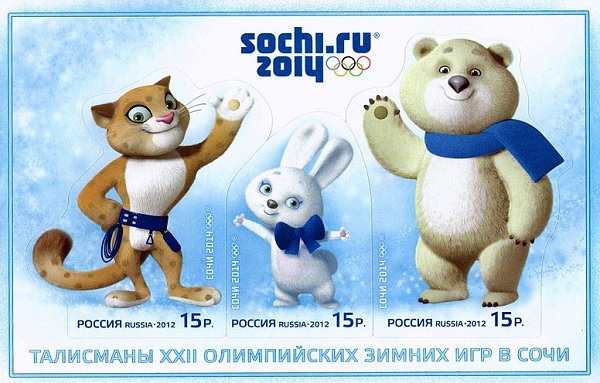 Mascots and Count Down to Winter Olympics 2014…