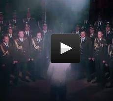 "Russian Interior Ministry Ensemble sings ""Get lucky"""