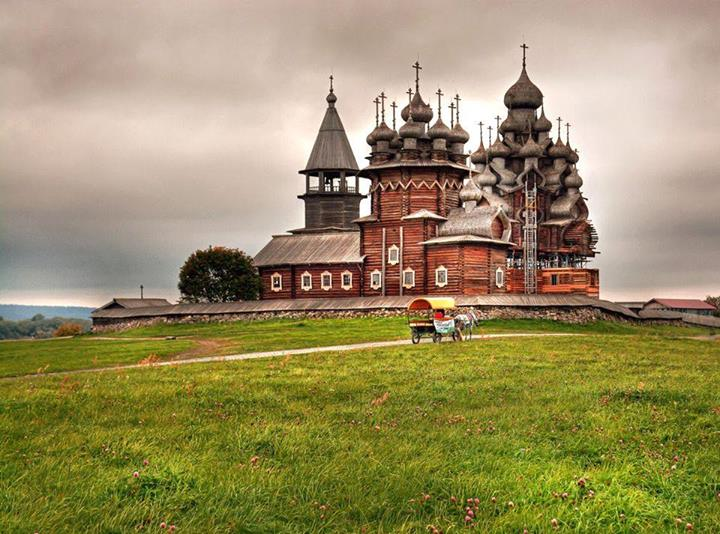 The Church of the Transfiguration on the Island of Kizhi, Karelia