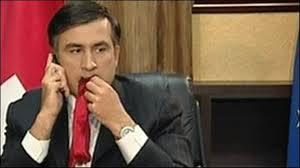 Mikheil Saakashvili eat tie
