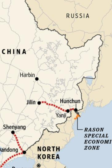 Chinese city of Hunchun vacation zone