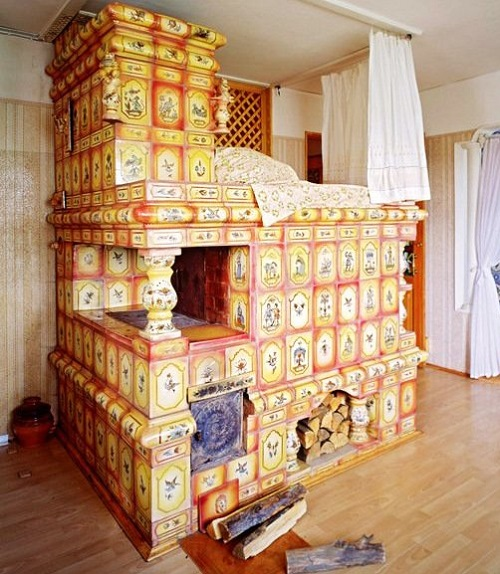 Russian Fireplace and stove…