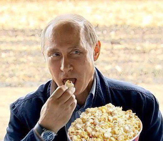 I grab a coffee, a popcorn and watch the show from Russia…